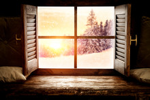 Winter Window Sill And Free Sp...