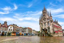 Gouda Town Hall On Market Square, Netherlands