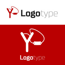 Red Slingshot Icon Isolated On...
