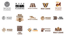 Vector Set Of Logos Of Wooden ...