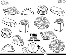 One Of A Kind Game With Food C...