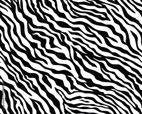 Photo Full seamless wallpaper for zebra and tiger stripes animal skin pattern