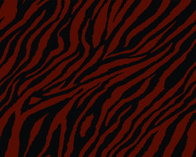 Full Seamless Tiger And Zebra Stripes Animal Skin Pattern. Texture Design For Tiger Colored Textile Fabric Printing. Suitable For Fashion Use.