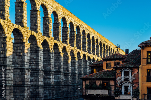 Aqueduct of Segovia, UNESCO World Heritage Site in Spain