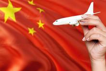 China Travel Concept. Woman Ho...