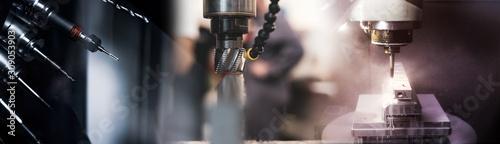 Industry / Moderne CNC und Konventionelle Fräsmaschine Wallpaper Mural