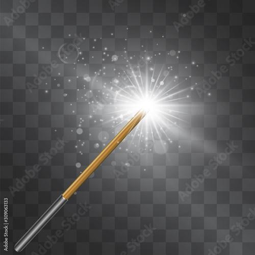 Fototapeta Magic wand silver flash