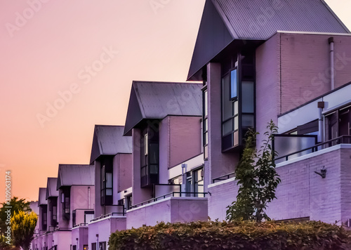 Dutch houses in the city of apeldoorn, the netherlands, modern architecture Wallpaper Mural