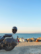 Motorbike At The Waterfront, A...