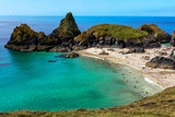 Kynance cove - a popular but secluded beach in Cornwall, England