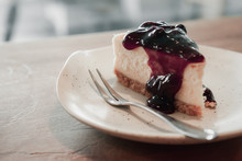 Blueberry Pastry Cake Placed O...
