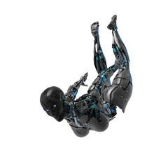 Cyborg Female Comic Pose Flyin...