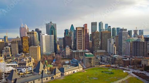 Fotografie, Obraz Montreal panoramic view on skyscrapers  buildings
