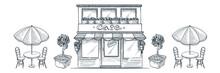 Street Cafe, Shop Or Bakery Bu...