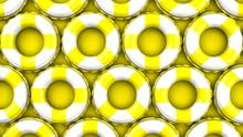 Yellow Swim Rings On Yellow Ba...