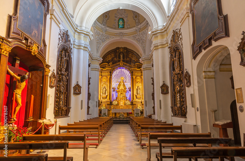 CORDOBA, SPAIN - MAY 27, 2015: The traditional vested Virgin Mary statue on the Wallpaper Mural