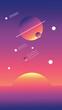 canvas print picture - a sunrise