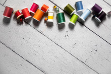 Horizontal Rainbow Of Thread