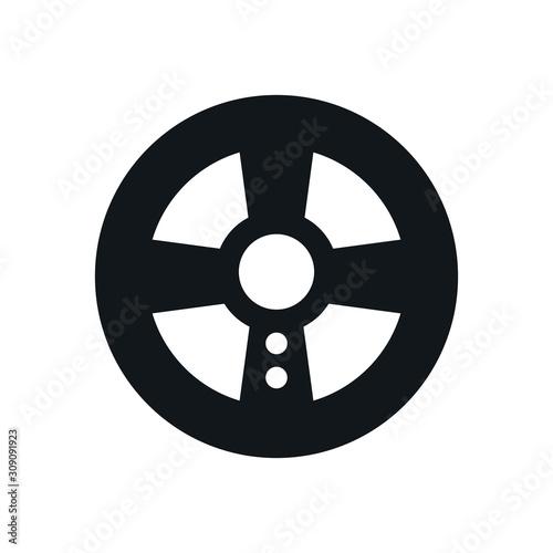 video game car wheel control Canvas Print