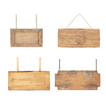 Collection Of Wooden Blank Sig...