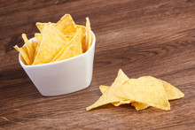 Salted Potato Crisps In Bowl O...