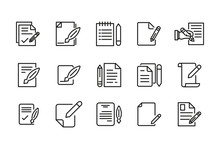 Stroke Line Icons Set Of Contr...