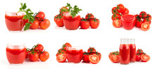 Set Of Photos Of Tomato Juice ...