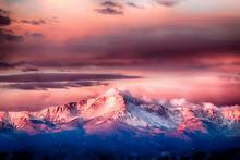 Pikes Peak Alpenglow