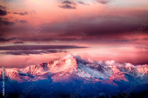 Pikes Peak Alpenglow Canvas Print