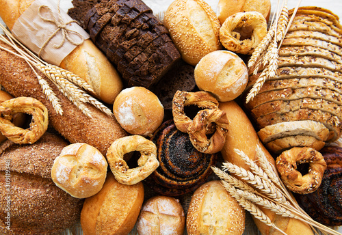 Fotografiet Assortment of baked bread