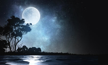 Full Moon Background . Mixed M...