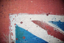 London England Union Jack Grunge Splats