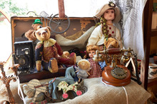 Suitcase With Toys And Dolls (...