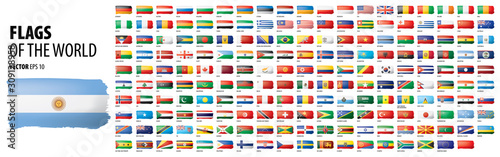 Obraz na plátně National flags of the countries