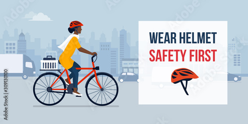 Wear helmet for your safety Canvas Print