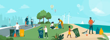 People Cleaning Planet Earth And Building A Better Future