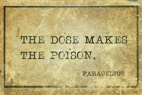 Fototapeta dose poison Paracelsus