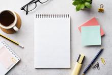 An Open Empty Notebook, Statio...