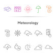 Meteorology line icon set
