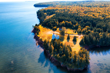 Drone Aerial View Of Rocky Poi...