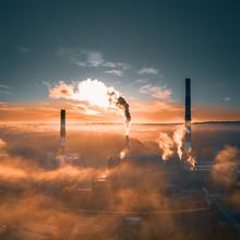 Factory Smoke From Smokestack ...