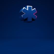 Phantom Blue 3d Asterisk Symbol