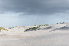 Rain Showers Approach Sand Dunes At Outer Banks