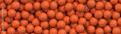 Basketball balls background