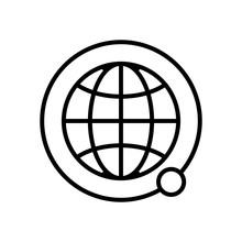 Satellites Land The Icon Vecto...