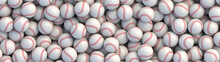 Baseball Balls Background With...