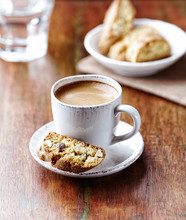 Cup Of Coffee With Cantuccini ...