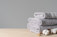 Cotton Soft Towels Front View,...