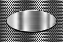 Metal Oval Shield On Perforate...