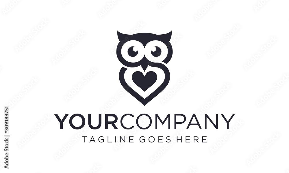 Prosty i kreatywny sowa logo projekt wektor